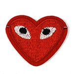 Heart Embroidered Iron-On Applique Patch, Embroidery Patch by PC, TR-11441